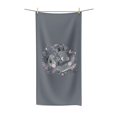Bunny meadow beach towel