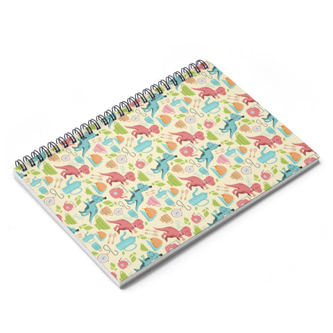 Tea Rex Spiral Notebook - Ruled Line