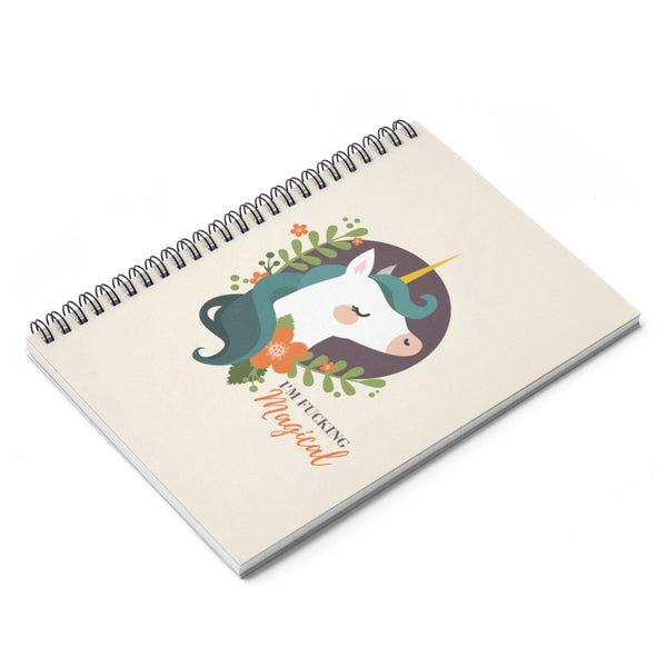 Magical Unicorn Spiral Notebook - Ruled Line