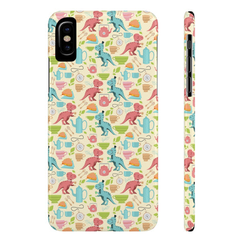 Tea Rex Slim Phone Cases