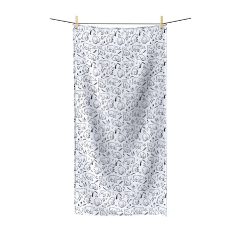 Inky Bears Beach Towel