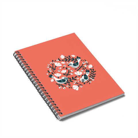 Birds and Blossoms Spiral Notebook - Ruled Line