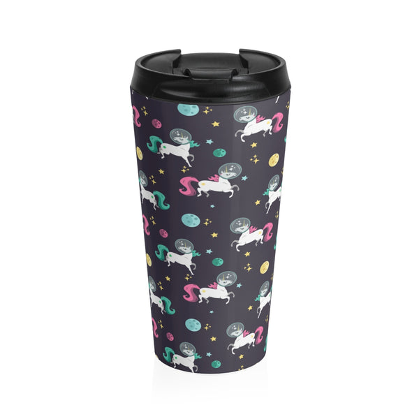 Space Unicorn Pattern Stainless Steel Travel Mug