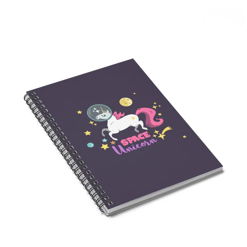 Space Unicorn Spiral Notebook - Ruled Line