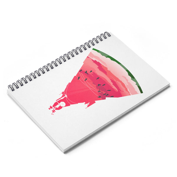 Melon Rain Spiral Notebook - Ruled Line
