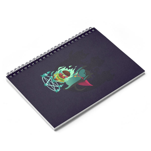 Cat Mage Spiral Notebook - Ruled Line