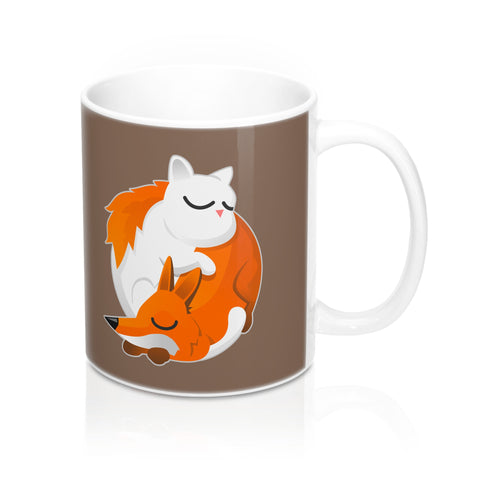 Cat and Fox Mug