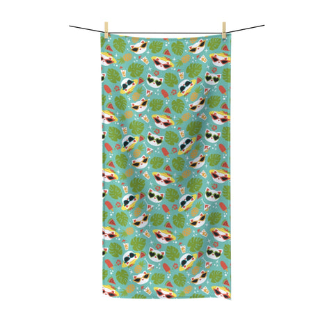 Summer Cat Beach Towel
