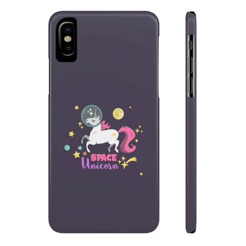 Space Unicorn Slim Phone Cases