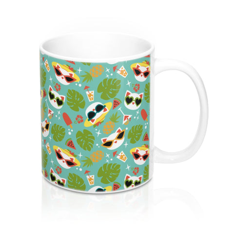 Summer Cat Mug 11oz