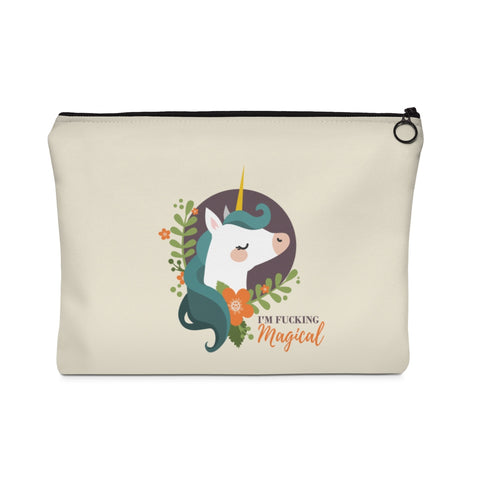 Magical Unicorn Carry All Pouch - Flat