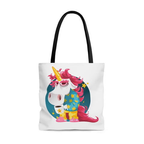 Morning Coffee Unicorn Tote Bag