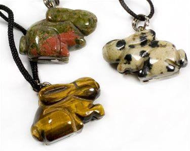 Gemstone Rabbit Necklace - The City Witches