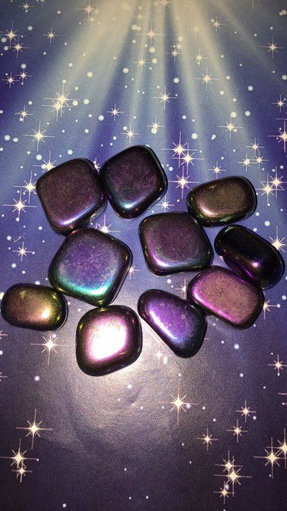 Hematite Mystic Purple Titanium Coated Tumbled Stones - The City Witches