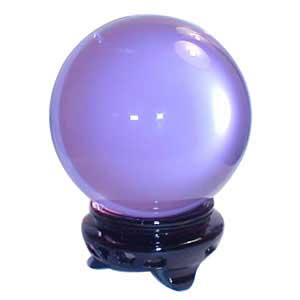 75 mm Lavender Crystal Ball - The City Witches