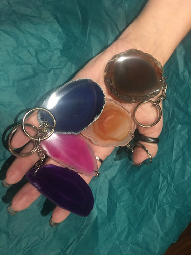 Agate Slice Key Chains - The City Witches