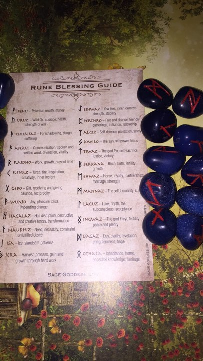 Indigo Agate Rune Set. - The City Witches