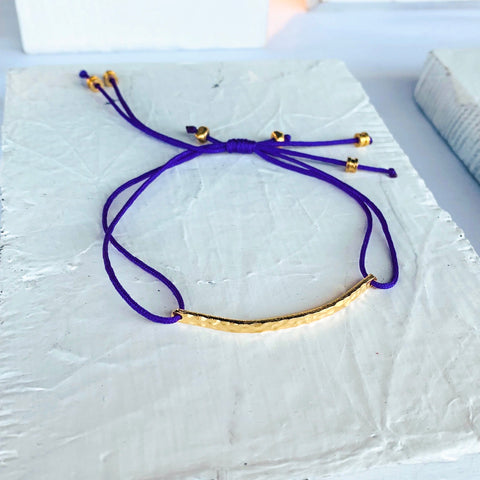 Naayó Purple Friendship Bracelet