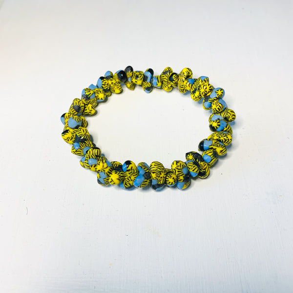 Cio Handmade Glass Bead Stretch Bracelet