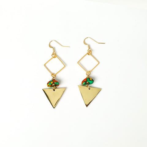 Malikah Earrings in Green