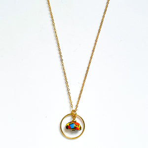 Satellite Earth Necklace in Blue