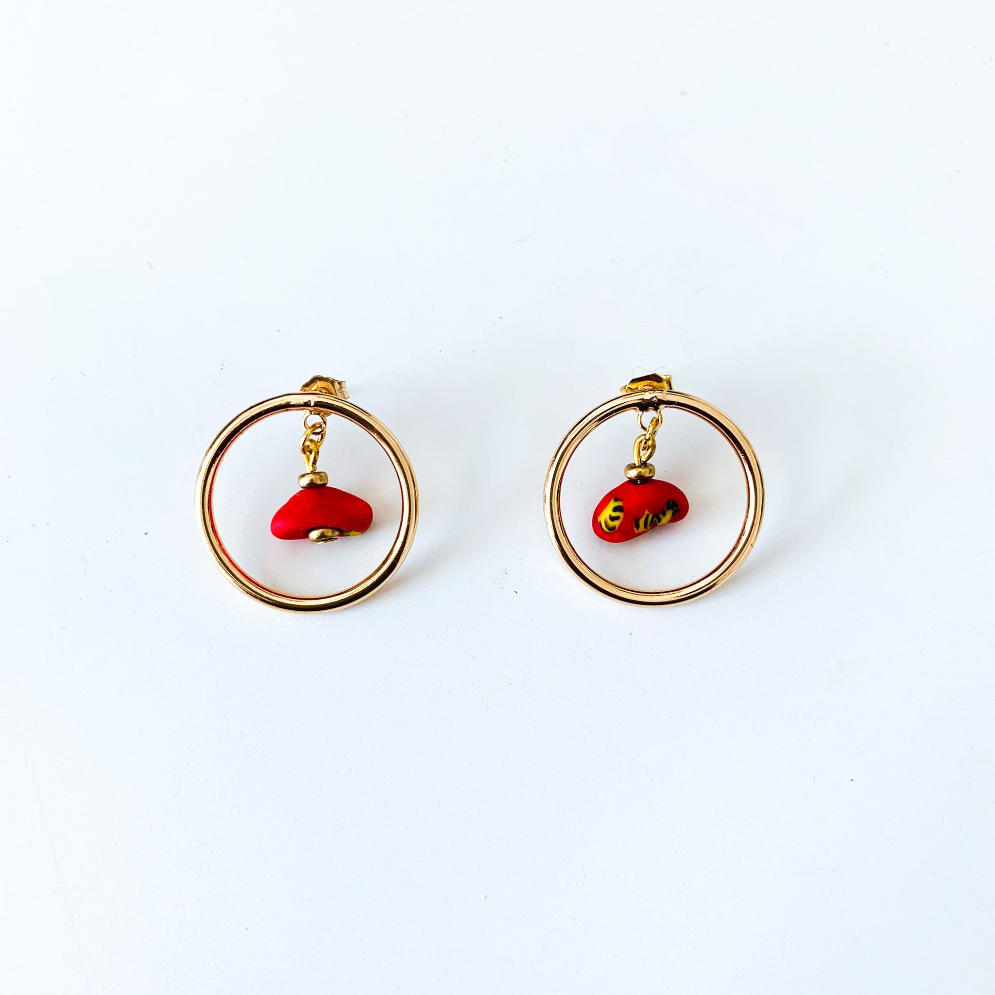 Rikiah Stud Earrings (Red)
