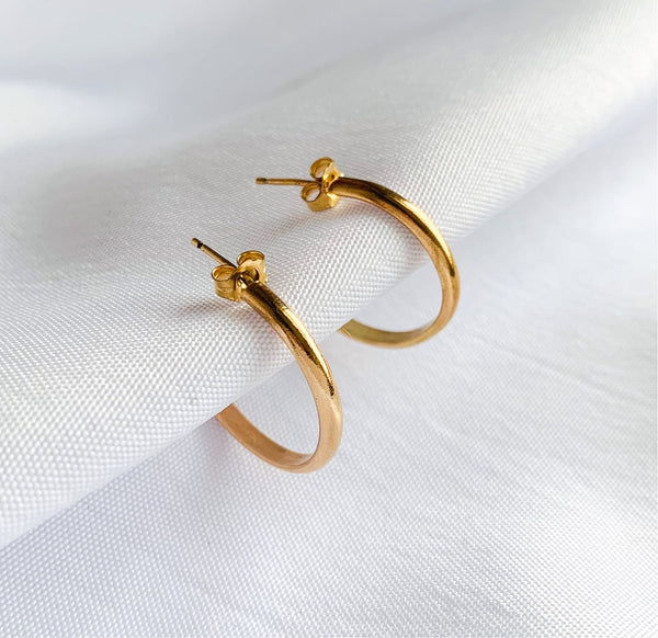 Nyla Golden Hoop Earrings