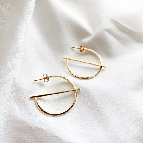 Luxe Gold Hoop Earrings