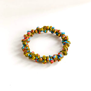 Cee Handmade Glass Bead Stretch Bracelet