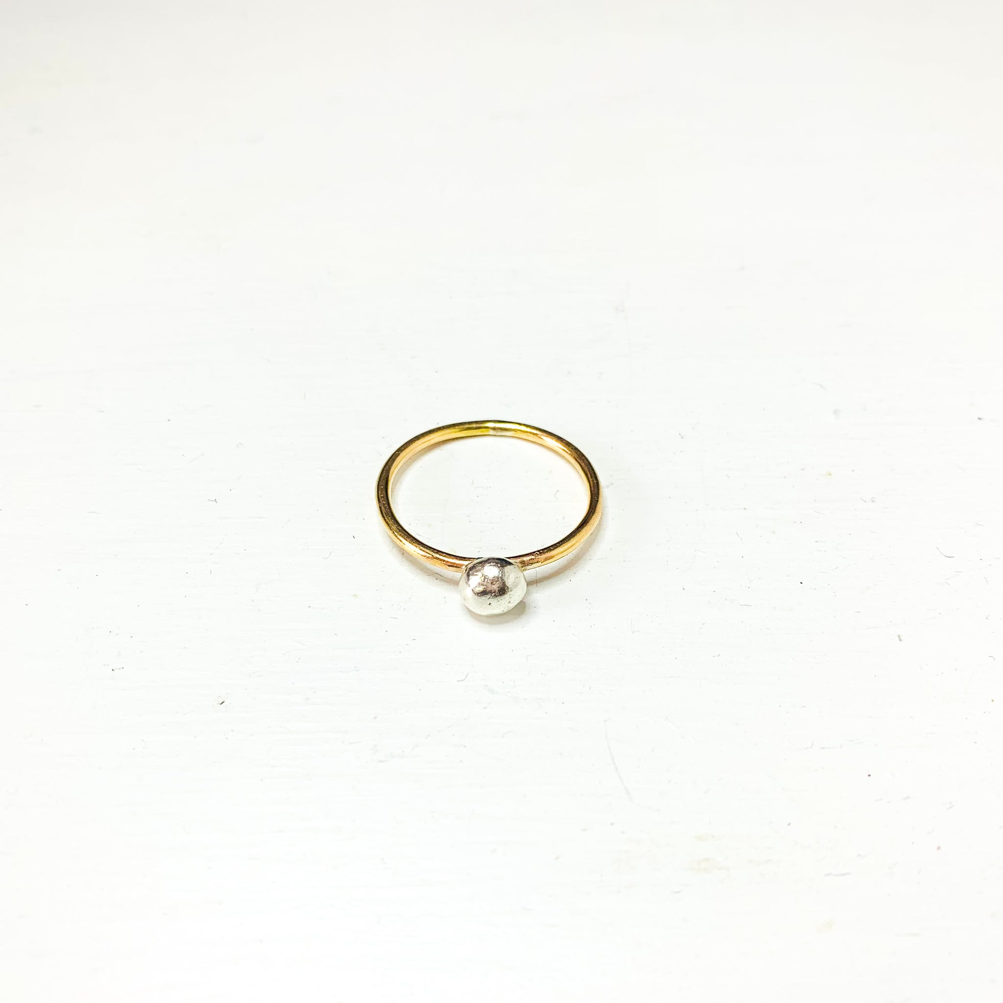 Medium Organic Bubble Mixed Metal Ring