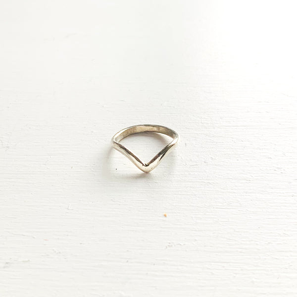 Sterling Silver Wishbone Ring