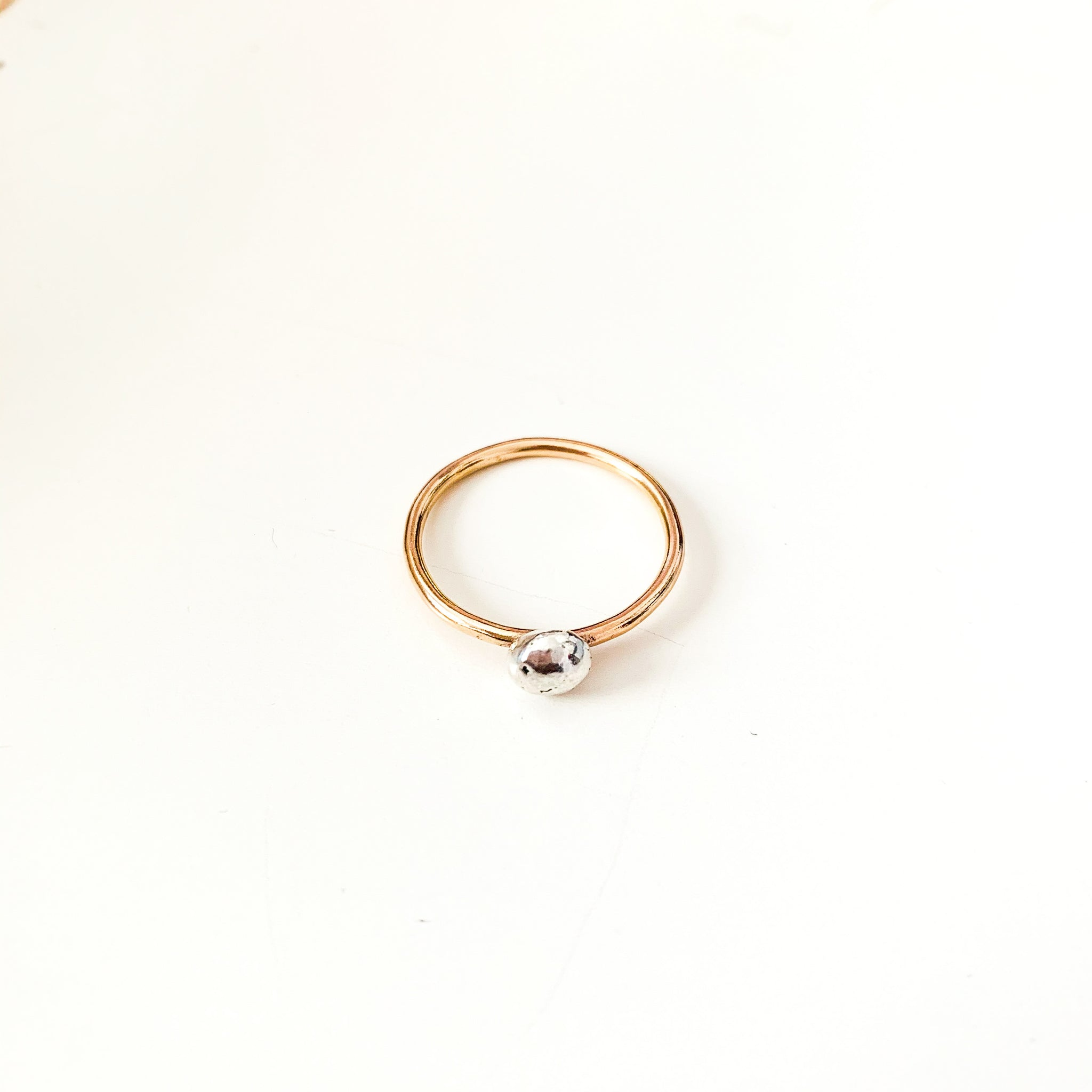 Large Organic Bubble Mixed Metal Ring