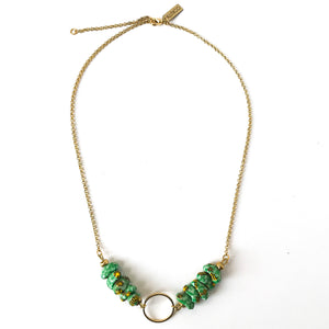 Cirkel Necklace in Green