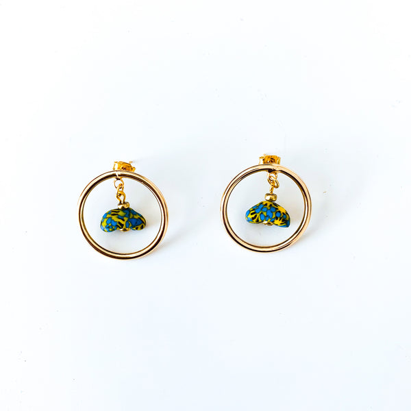 Rikiah Stud Earrings (Blue)
