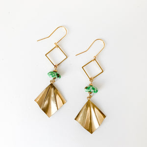 Vida Earrings in Green