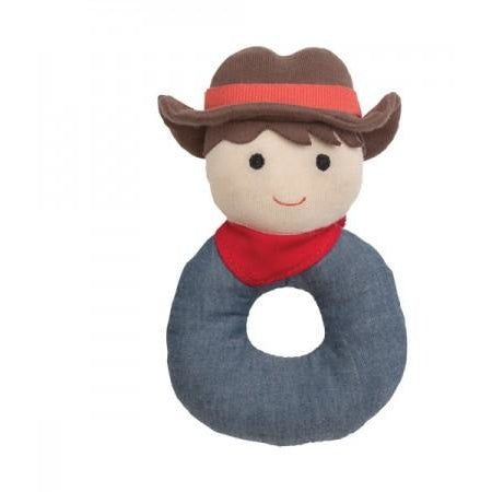 Billie Cowboy Organic Rattle