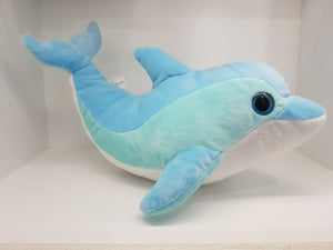 Large Blue Plush Dolphin