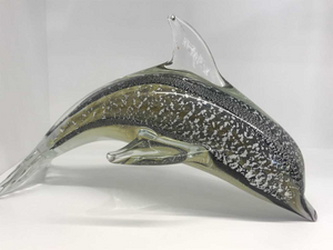 Extra Large Glass Dolphin