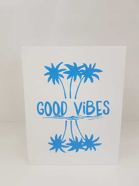 Good Vibes Beach Sign