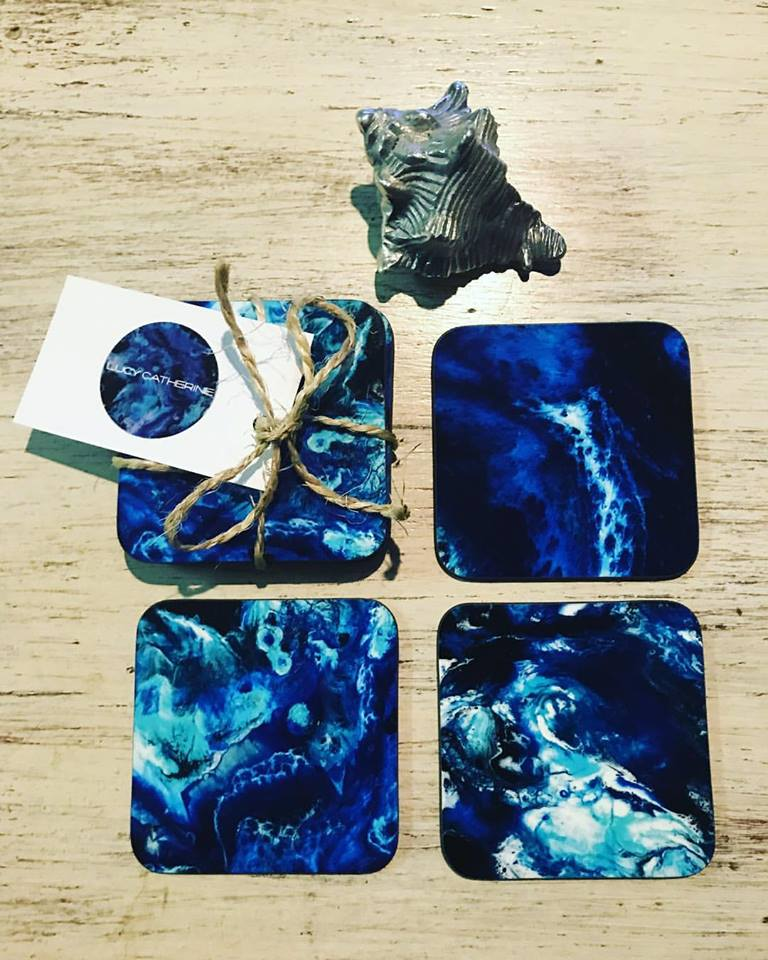 Lucy Catherine Watercolour Coasters