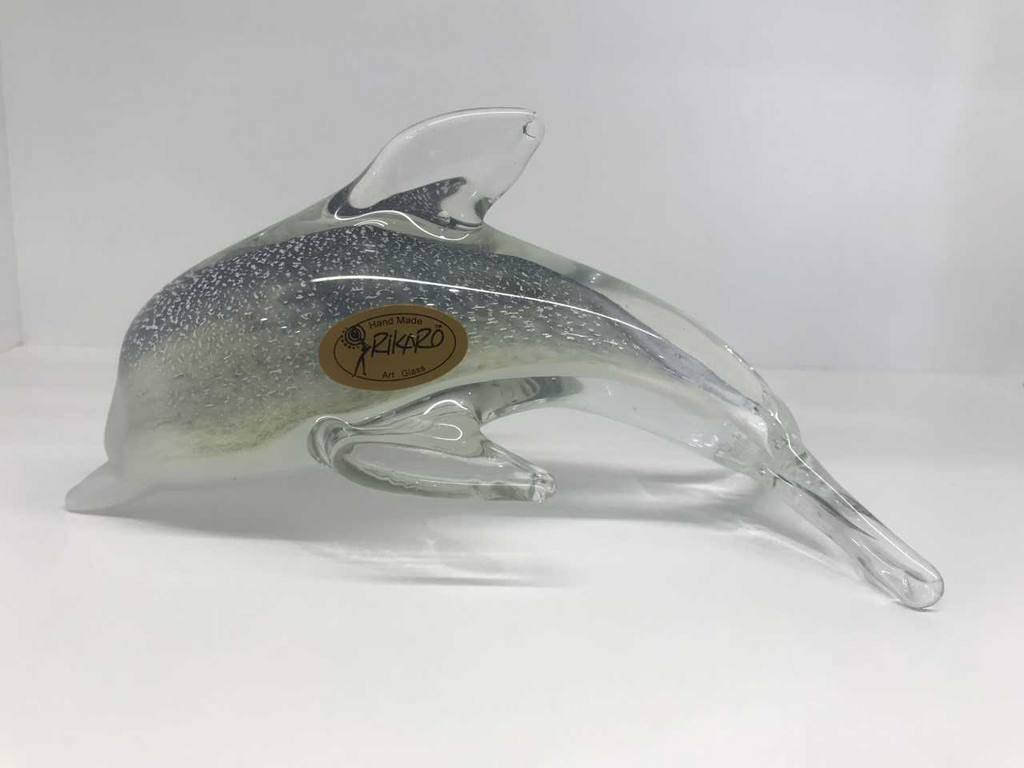 Medium Glass Dolphin