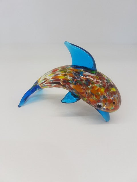 Multi-Coloured Glass Dolphin