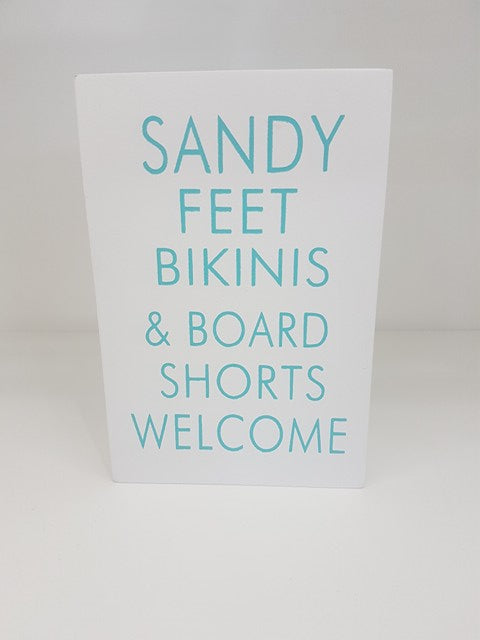 Sandy Feet Sign