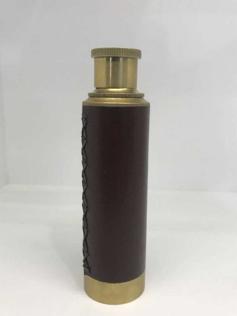 Brass Leather Telescope
