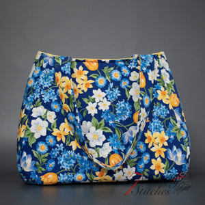 Blue Floral Ethel Handbag