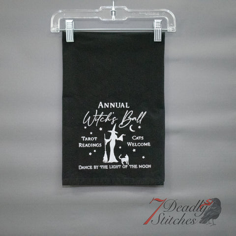 Annual Witch's Ball Flour Sack Dish Towel
