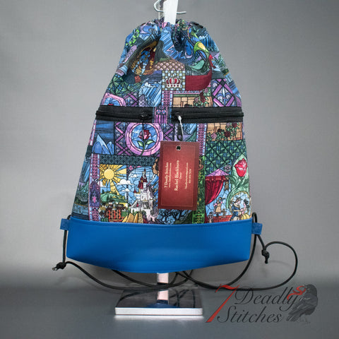 Beauty and the Beast Stained Glass Begonia Backpack
