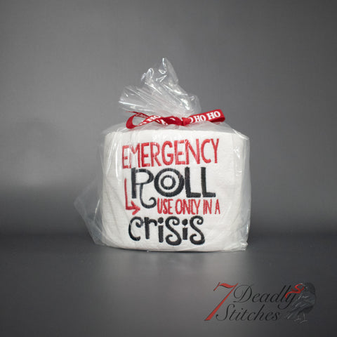 Emergency Roll  Embroidered Toilet Paper