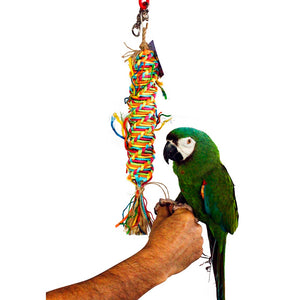 Birds LOVE Twisted Paper Tornado Toy for Medium Birds