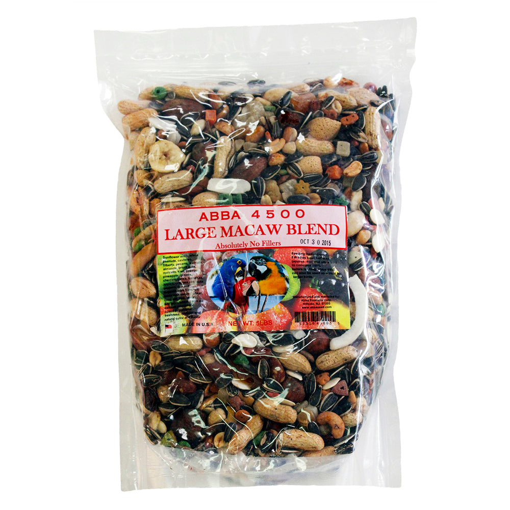 ABBA 4500 Large Macaw Blend 5lb